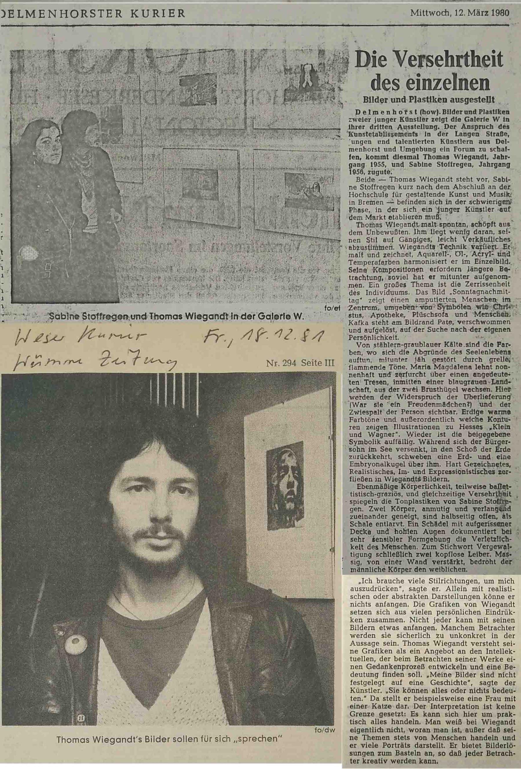 Newspaper Clips - 1981