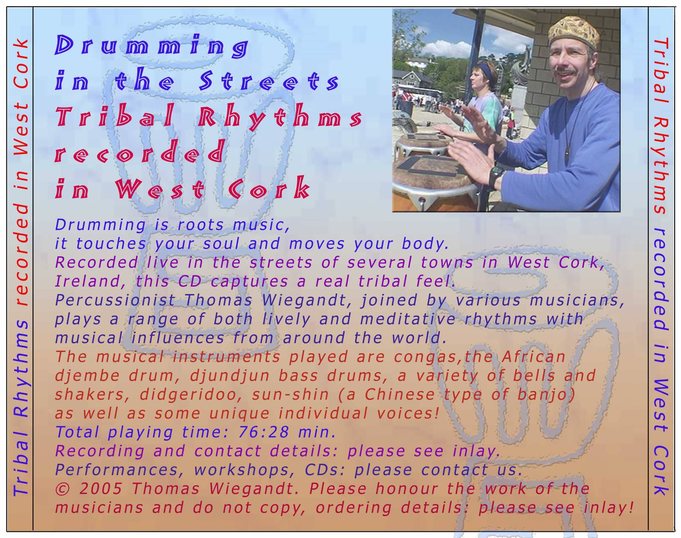 Drumming In The Streets - CD-backcover
