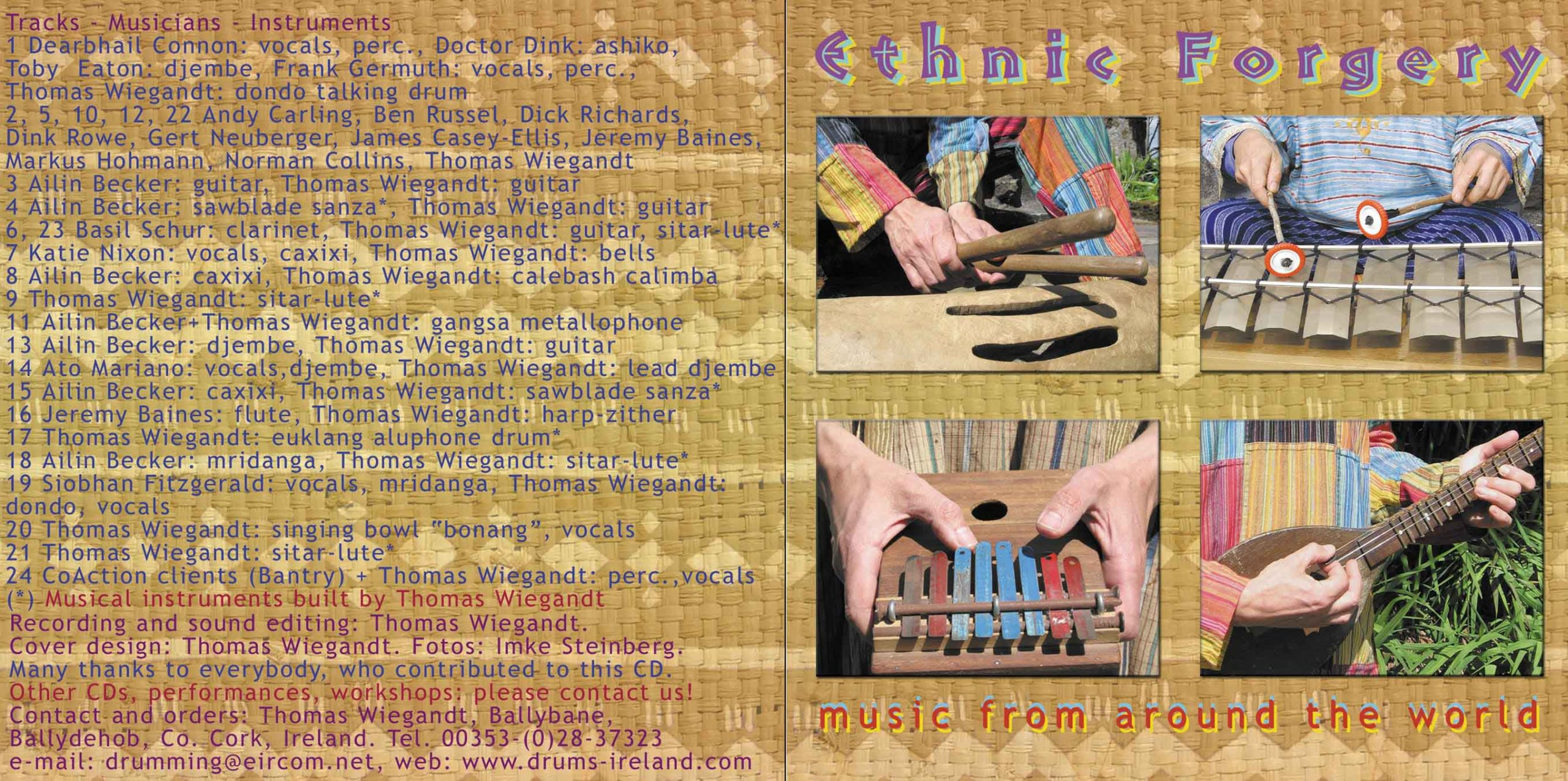 Ethnic Forgery - CD inlay