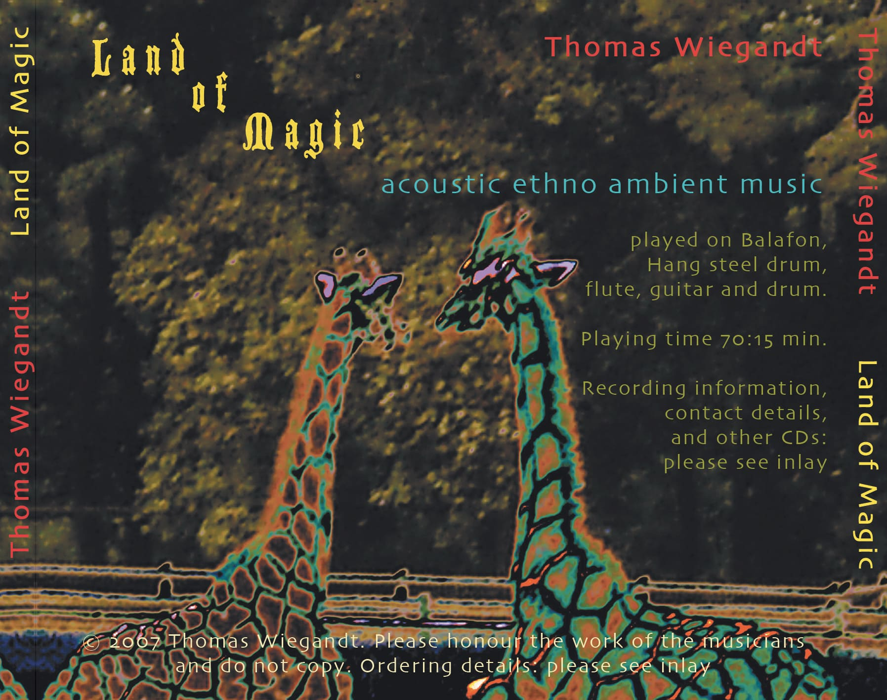 Land Of Magic - CD back cover