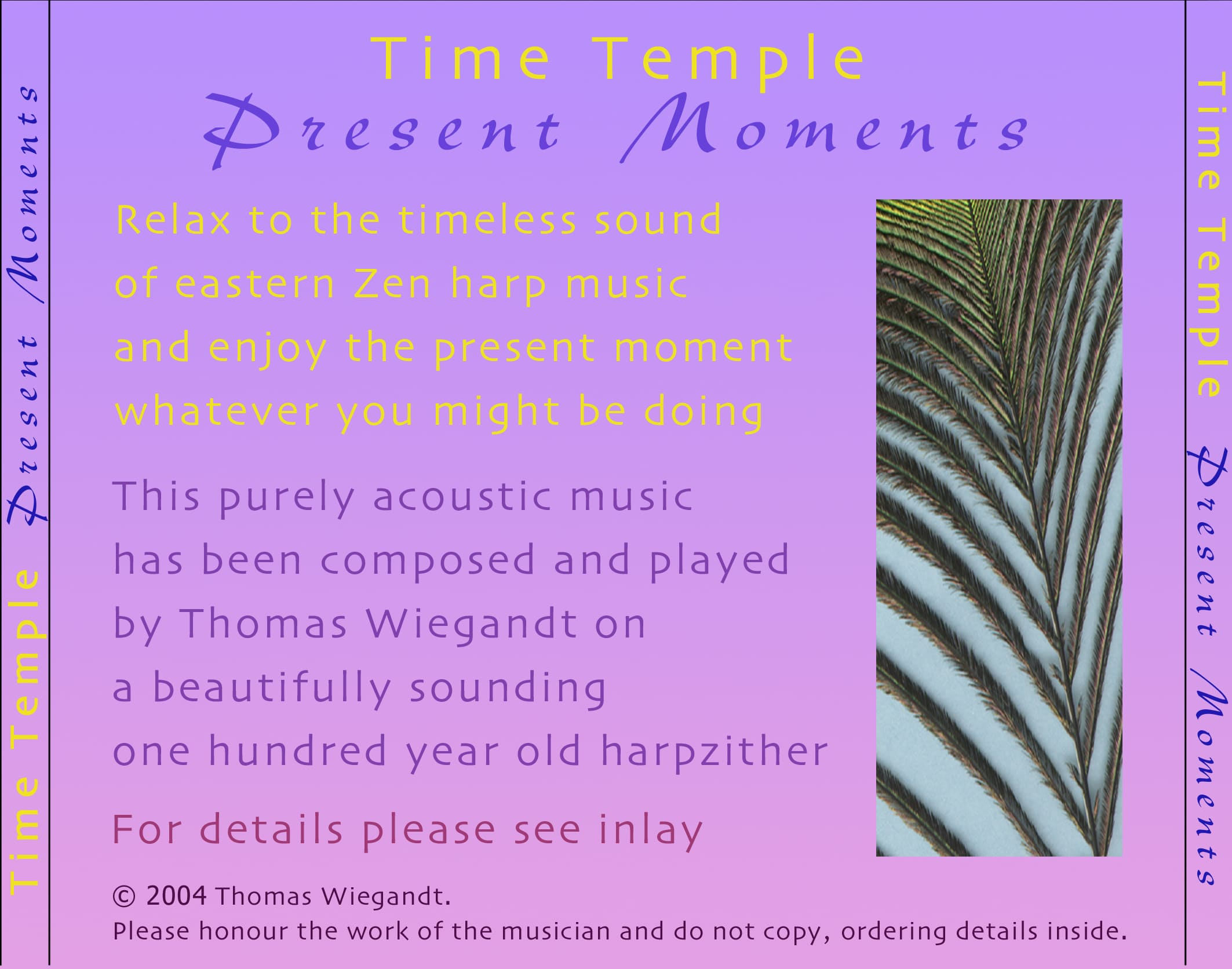 Time Temple - Present Moments - backcover