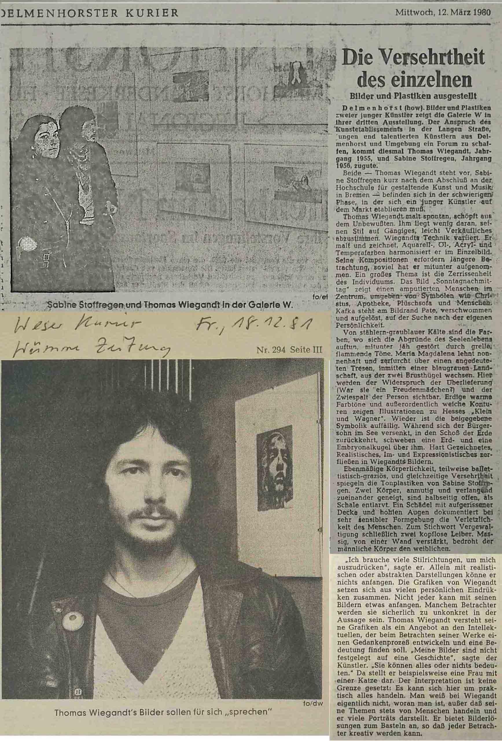 Newspaper Clips – 1981