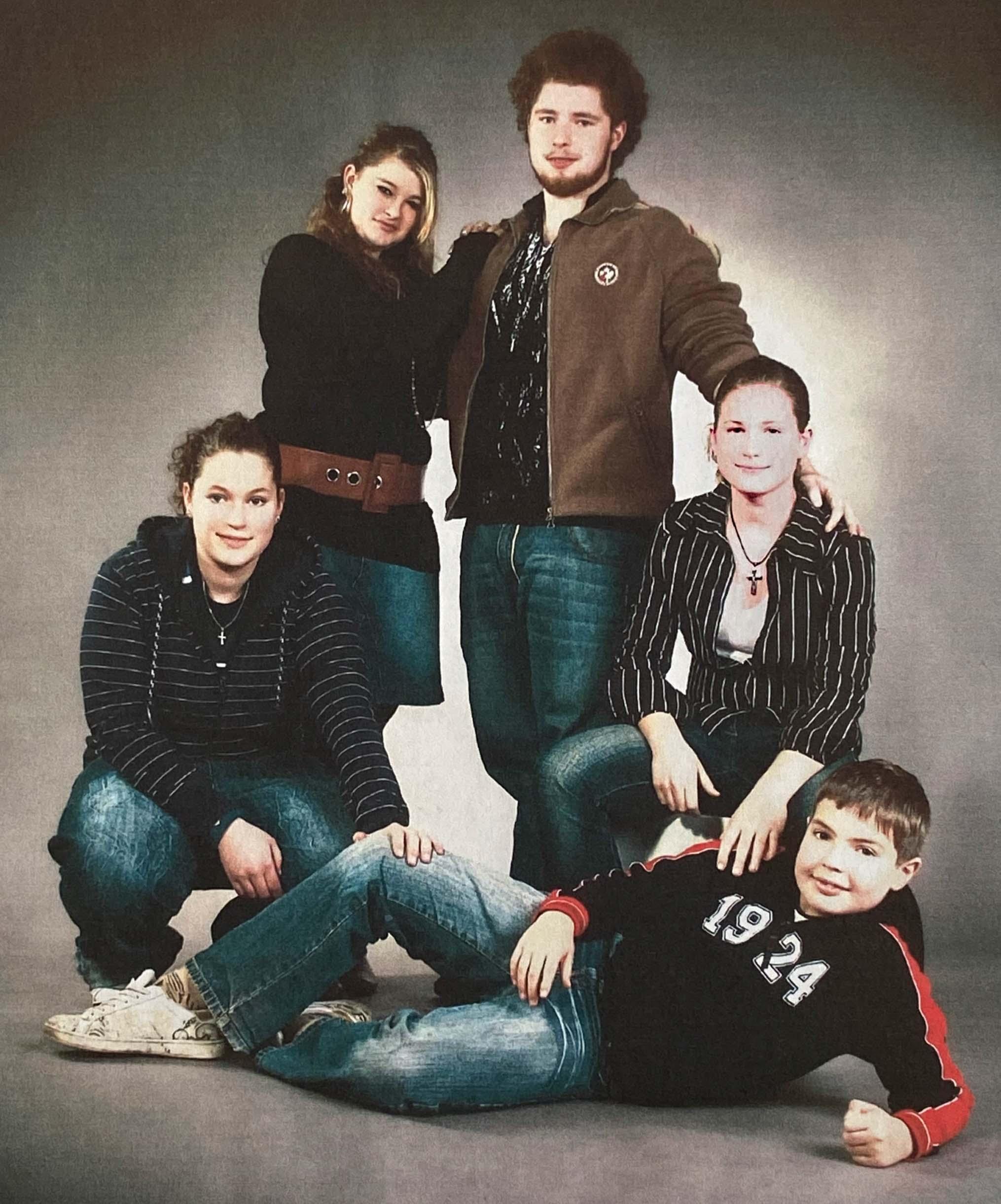 Andrea, Maria, Martin, Monika, Benedikt Wiegandt - 2004